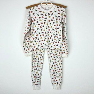 Hanna Andersson Youth Pajama Set Fall Leaves Sz 10